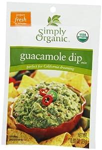 Simply Organic Dip Mix, Guacamole, Pack of 12
