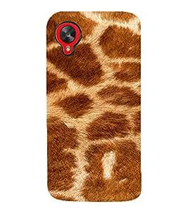 PrintVisa Giraffe Animal Print Pattern 3D Hard Polycarbonate Designer Back Case Cover for LG Google Nexus 5