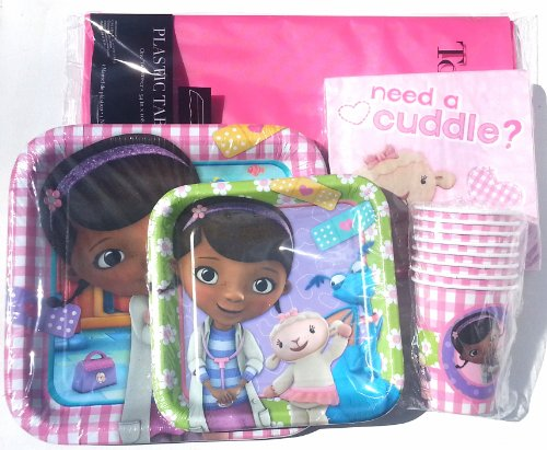 Doc Mcstuffin Party Supply Pack ~ Plates, Napkins, Cups And Tablecloth