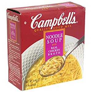 Campbell's Soup Mix, Noodle Soup with Real Chicken Broth, 2-Count Boxes (Pack of 12)