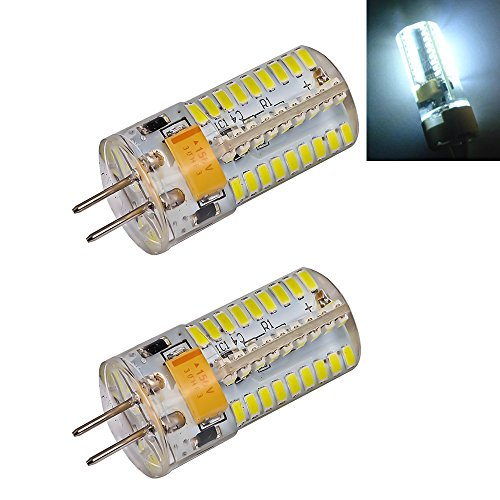 Ljy 2Pcs Pack G4 3014 Smd 72-Led 5W 280-310Lm White Light Led Crystal Bulb 360 Degrees Energy Saving Capsule Spotlight Lamps Ac Dc 12-24V