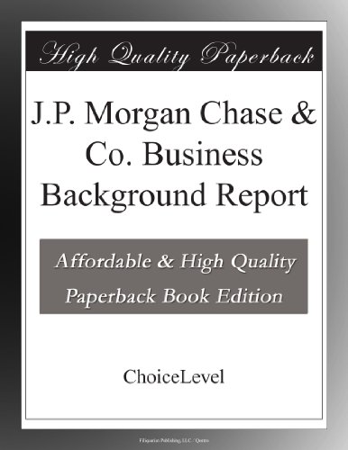jp-morgan-chase-co-business-background-report