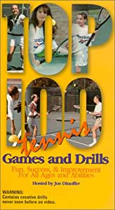 Top 100 Tennis Games and Drills (2 Tape Set) [VHS]