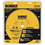 DEWALT DW7296PT Precision Trim 12-Inch 96 Tooth ATB Crosscutting Saw Blade with 1-Inch Arbor (Tamaño: Pack of 1)