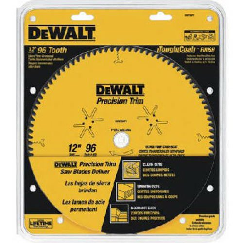 DEWALT DW7296PT Precision Trim 12-Inch 96 Tooth ATB Crosscutting Saw Blade with 1-Inch Arbor (12 Inch 96 Tooth Saw Blade compare prices)