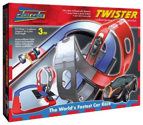 Darda 50109-Circuit de Course Twister, avec Noir Panther voiture de sport, 300cm Distance Longueur