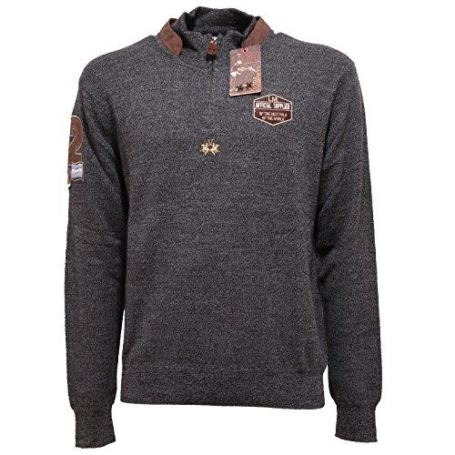 7082Q maglione uomo LA MARTINA lana grigio grey sweater men [XL]