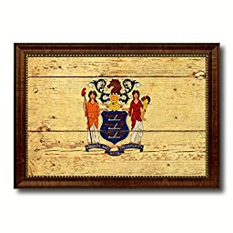 New Jersey State Vintage Flag Collection Western Interior Design Souvenir Gift Ideas Wall Art Home Decor Office Decoration - 23\
