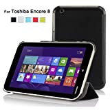 IVSO Toshiba Encore WT8 (Windows 8.1) Ultra Lightweight Slim Smart Cover Case-will only fit Toshiba Encore WT8 (Windows 8.1) Tablet (Black)