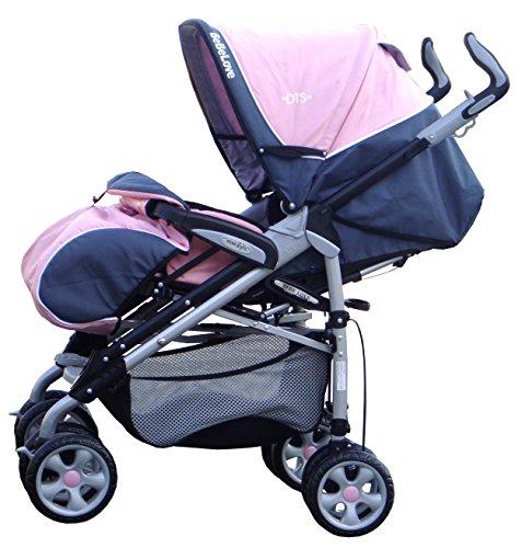 BeBeLove USA Deluxe Travel Stroller, Pink