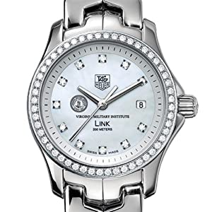 Virginia Military Institute TAG Heuer Watch - Women's Link Watch with Diamond Bezel