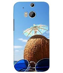 PrintVisa Travel Beach 3D Hard Polycarbonate Designer Back Case Cover for HTC One M8