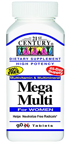 21st Century Mega Multi for Women Tablets, 90-Count (Century 21 compare prices)