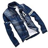 (イノセンティア) Innocentia デニムジャケット デニム メンズ デニムジャケット Gジャン ジージャン ブルゾン アウター 上着 カジュアル シンプル 秋 冬 ブルー 6サイズ (L, ブルー)