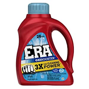 Era With Oxi Booster Regular Liquid Detergent 26 Loads 50 Fl Oz (Pack of 2)