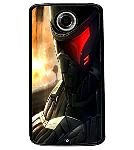 ColourCraft The Soldier Design Back Case Cover for MOTOROLA GOOGLE NEXUS 6