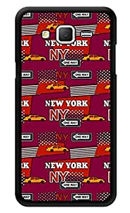 """Humor Gang New York Life Printed Designer Mobile Back Cover For """"Samsung Galaxy On7"""" (3D, Glossy, Premium Quality Snap On Case)"""