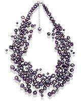 Valero Pearls - 120314 - Collier  Argent 925/1000 - Femme - Perles Cultures d'Eau douce -  42+5 cm