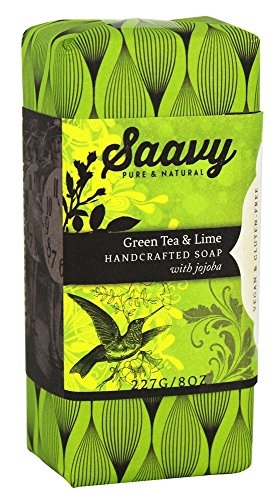 Saavy Naturals - Jojoba Handcrafted Soap Green Tea & Lime - 8 oz.