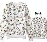 Japanese Game Neko Atsume ねこあつめ Cute Cat Casual Long Sleeve T-shirt Sweater Custom-made b2 (M)