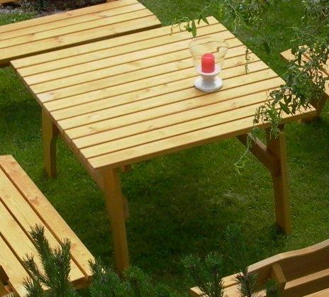 Massivholztisch Freital 120x120cm, massive Kiefer 34mm stark kammergestrockne… jetzt kaufen