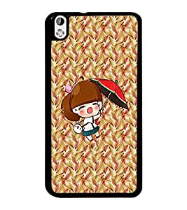 PrintDhaba Cartoon D-2994 Back Case Cover for HTC DESIRE 816 (Multi-Coloured)