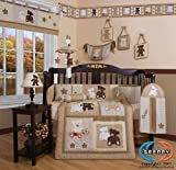 51CQv8zYKsL. SL160  Boutique Baby Teddy Bear 13PCS CRIB BEDDING SET By GEENNY Designs