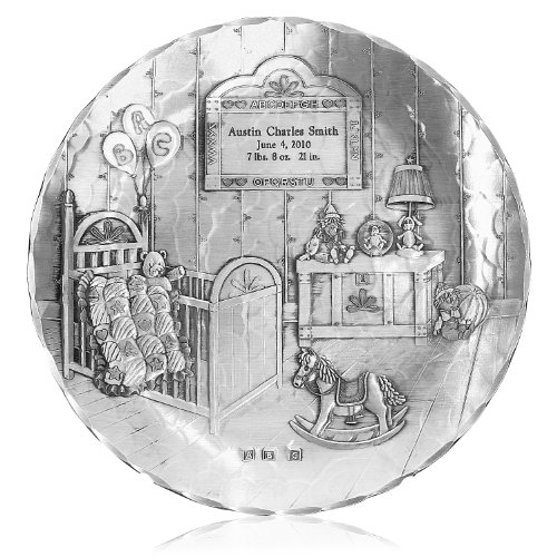 Handmade Nursery Plate by Wendell August Forge