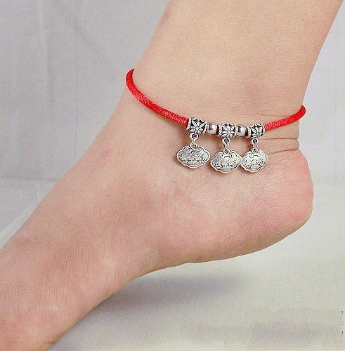 Tibetan Silver Sterling Silver Bangle Anklet Chain Bracelet Jewellery Quality Style NO.3013