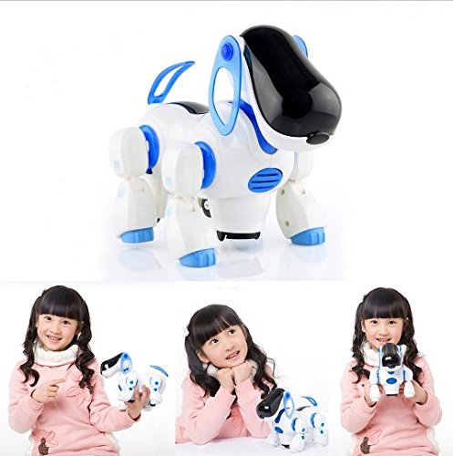 JCare Intelligent Electronic Walking Light Sound Pet Smart Cute Robot Dog With Light Music Shaking Head Wake Tail Funny Children Toys Puppy Baby Partner Gift Lovely Toy for Children Kid