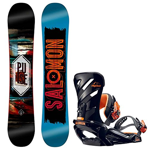 Herren Snowboard Set Salomon Pulse 163 + Rhythm Orange 2017 Snowboard Set
