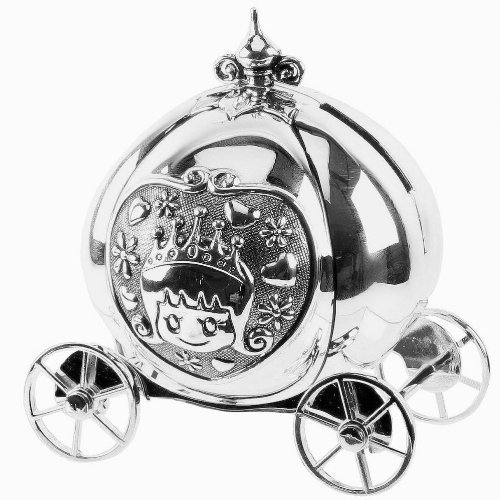 girls-silver-cinderella-coach-money-box