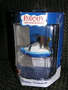 Rudolph the Red Nosed Reindeer Misfit Toys BOAT Christmas Ornament