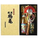 越後鶴亀 飲み比べセット 純米大吟醸 招福神 純米酒 金箔入り 720ml×2本