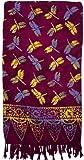 Colorful Dragonfly Sarong