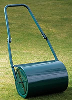 Garden Gear Galvanised Steel Lawn Roller Just Fill with Sand or Water - 30 Litre.
