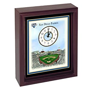 San Diego Padres Petco Park Stadium Colorprint Desk Clock by SAN