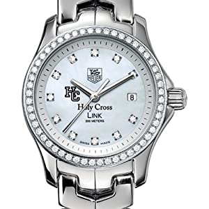 Holy Cross TAG Heuer Watch - Women's Link Watch with Diamond Bezel