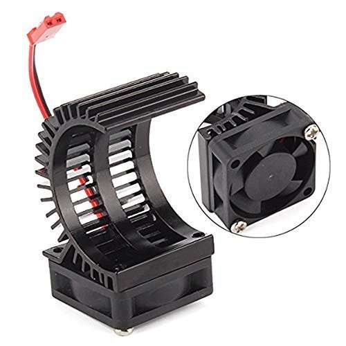 Brushless Electric Engine Motor Heatsink with Cooling Fan RS540 550 540 Size 5-6V Heat Sink For Remote Control RC Hobby Car Truck Buggy Crawler (540 Motor Cooling Fan compare prices)