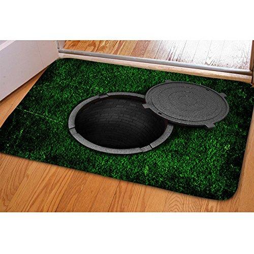 Mat 3D casa Zerbino-peluche di slittamento non Backing - 40 * 59 centimetri-soggiorno, camera, cucina , c102cn5