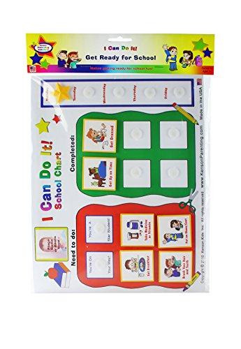 Kenson Kids I Can Do It Reward Chart: School