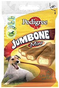 Pedigree Jumbone Dog Chews Small Dog with Chicken and Rice 180g (Pack of 8, Total 32 Treats)
