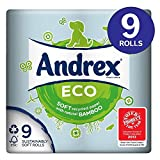 Andrex Eco Toilet Tissue Rolls - 180 Sheets per Roll (9)
