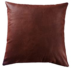 Loft Collection Faux Decorative Pillow Replacement Cover, Brown