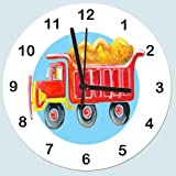 Pirate Clock,Boys Clock, kids Clock, Boys Clock,Boys Giftby Tigerlilyprints