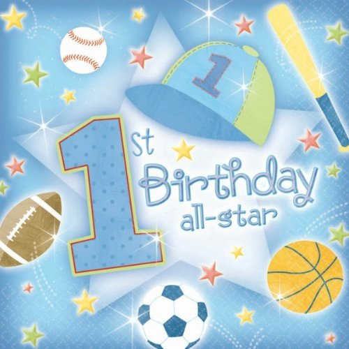 All Star 1st Birthday Party Supplies (Lunch Napkins (36 ct))