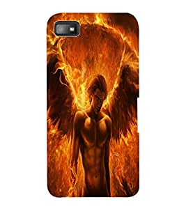 ColourCraft Flaming Feathers Design Back Case Cover for BLACKBERRY Z10
