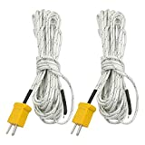 uxcell® 2pcs K Type 0-400C Thermocouple Probe Sensor 5 Meter for Thermometer