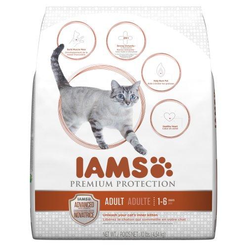 Iams Premium Protection Adult Dry Cat Food, 10-Pound