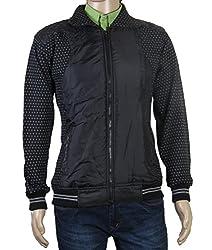 Modo Vivendi | Western Style Warm Winter Jackets For Men | Stylish Winter Coat Sweatshirt For Men (Black, Large)
